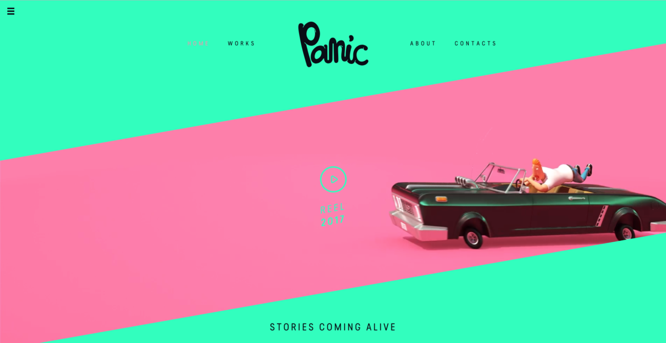 Colourful webdesign