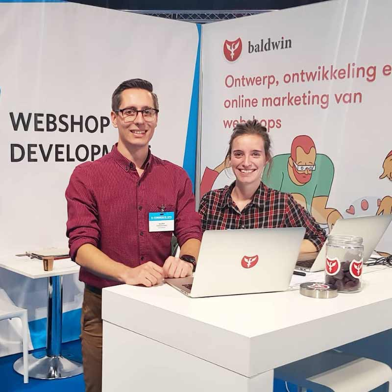 Baldwin team at the Kortrijk Expo e-commerce event