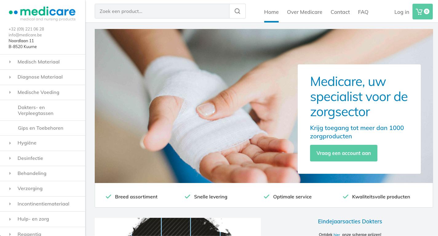 Medicare Magento 2 medische webshop