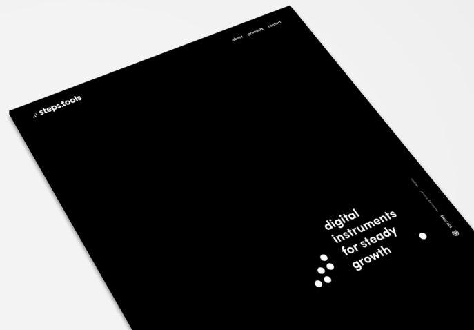 Zwart-wit webdesign